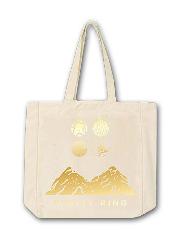 Purity Gold Foil Symbols Tote Bag